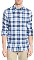 Gant Men's Trim Fit Plaid Linen Sport Shirt