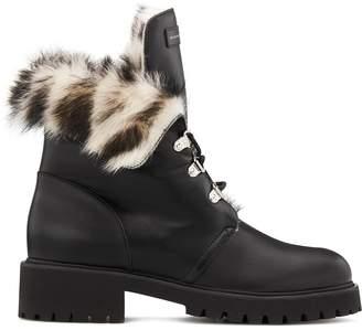 Giuseppe Zanotti Phillis sheepskin lined combat boots