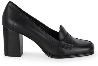 Michael Kors Buchanan Block-Heel Leather Loafers