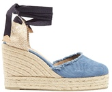 Castaner Canela denim wedge espadrilles