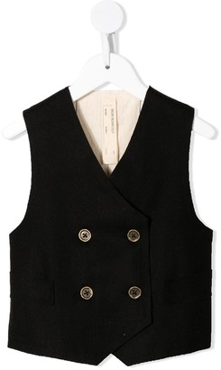 Factory Little Creative Kids double breasted waistcoat