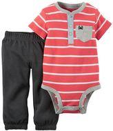Carter's Baby Boy Striped Henley Bodysuit & Pants Set