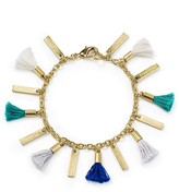 Aqua Devon Tassle Bracelet