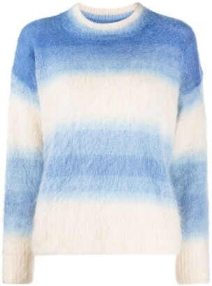 Etoile Isabel Marant Drussell striped ombre-effect jumper
