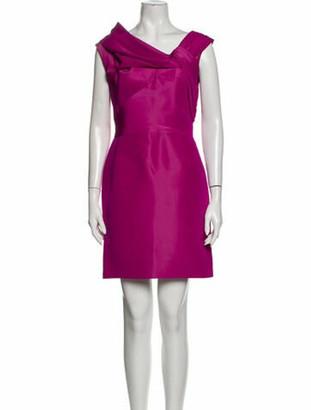 Oscar de la Renta 2009 Mini Dress Pink
