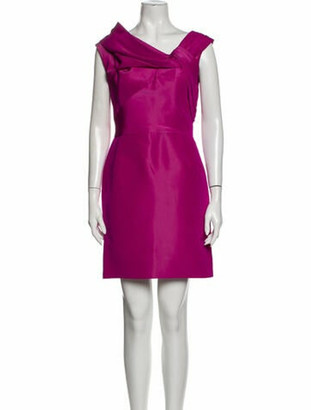 Oscar de la Renta Silk Mini Dress Pink
