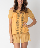 Mustard Sheer Accent Cover-Up