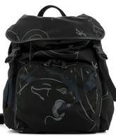 Valentino Black Fabric Backpack