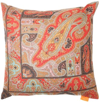 Etro FAROLES JACQUARD CASHMERE BLEND PILLOW