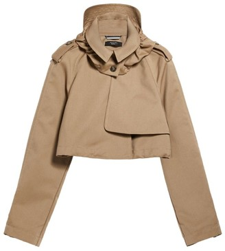 Max Mara Re-Find Cropped Trench Coat