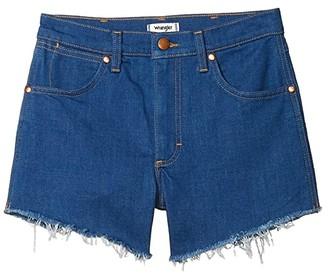 Wrangler Modern Cutoffs Shorts (Low Dip Rinse) Women's Shorts