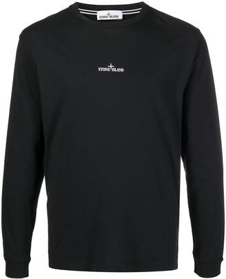 Stone Island logo-print cotton T-shirt