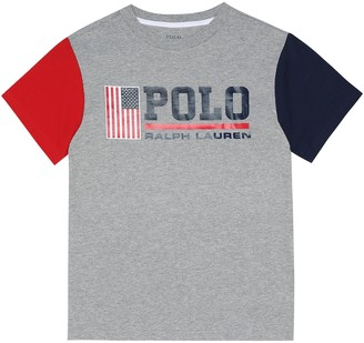 Polo Ralph Lauren Kids Logo cotton-jersey T-shirt