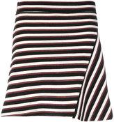 MAISON KITSUNÉ striped fitted skirt