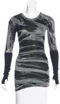 Enza Costa Printed Long Sleeve Top