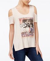 Jessica Simpson Lorani Cold-Shoulder Graphic T-Shirt