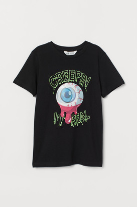 H&M T-shirt with Motif - Black