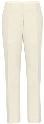 Dries Van Noten High-rise straight cotton pants