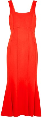 Veronica Beard Gloria red stretch-cady midi dress