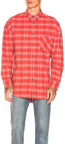 Zanerobe Rugger Longsleeve Shirt in Red. - size L (also in M,S,XL)