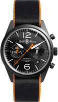 Bell & Ross BRV126OCA automatic stainless steel canvas strap watch