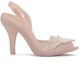 Melissa Women's Lady Dragon 16 Peep Toe Heeled Sandals Nude Cherub