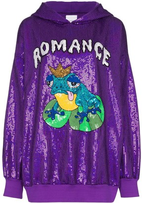 Ashish Romance sequin embellished hoodie