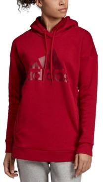 adidas Women's Logo Relaxed Fleece Hoodie