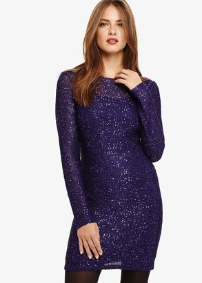 Phase Eight Juana Sequin Knitted Dress