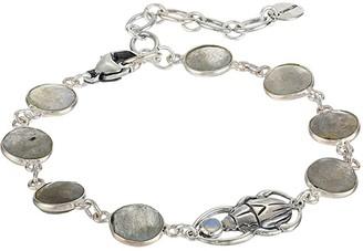 Chan Luu Labradorite and Scarab Adjustable Bracelet (Labradorite) Bracelet