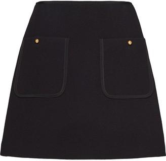 Miu Miu Pocket Detail High-Waisted Skirt