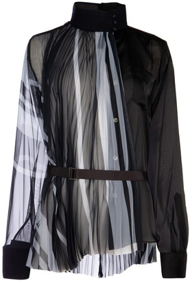 Sacai Pleated Belted Blouse
