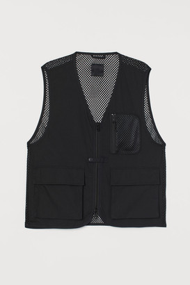 H&M Mesh-back Vest - Black