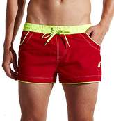 Fuiigo 2017 New Arrival Men's Board Shorts with Zipper Pockets for Swimming Trunks M