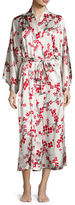 Natori Silk Cherry Blossom Long Robe