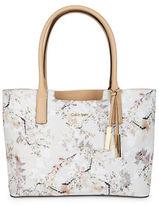 Calvin Klein Floral Saffiano Leather Tote