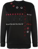 Versace embroidered logo sweatshirt - women - Silk/Cotton/Polyamide - 38