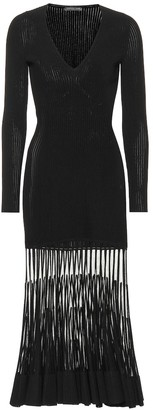 Alexander McQueen Stretch ribbed-knit dress