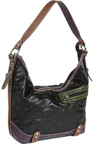Sydney Love Quilted with Croc Trim-Hobo