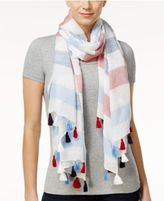 INC International Concepts Striped Tassel Wrap & Scarf in One, Only at Macy's