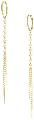 Meira T 14K Yellow Gold & Diamond Chain Drop Earrings