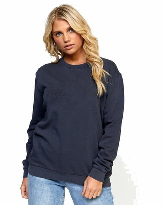RVCA Junior's Struck Pullover Crew Neck Sweatshirt