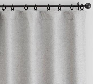 Pottery Barn Calhan Tweed Curtain - Gray Fleck