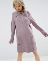 Asos Sweater Dress with Split Neck Detail