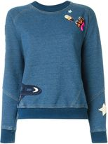 Stella McCartney denim sweatshirt - women - Cotton/Resin/Metal (Other)/glass - 44