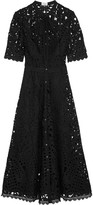 Temperley London Berry Pussy-bow Guipure Lace Midi Dress - UK8