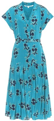 Veronica Beard Meagan floral silk dress