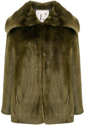 L'Autre Chose Faux-Fur Short-Length Coat