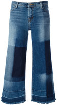 J Brand cropped wide-leg jeans - women - Cotton/Polyurethane - 27