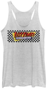 Fifth Sun Fast Times at Ridgemont High Checkers Logo Tri-Blend Racer Back Tank